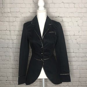 Free People Navy tailored blazer